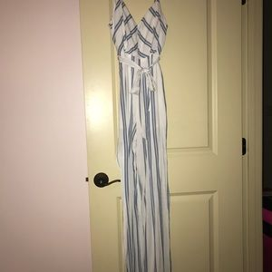 b9b529862cd etiquette boutique Pants - NWOT Blue white stripe jumpsuit